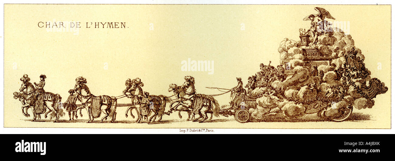 Chariot Of The Hymen 1885  - Stock Image