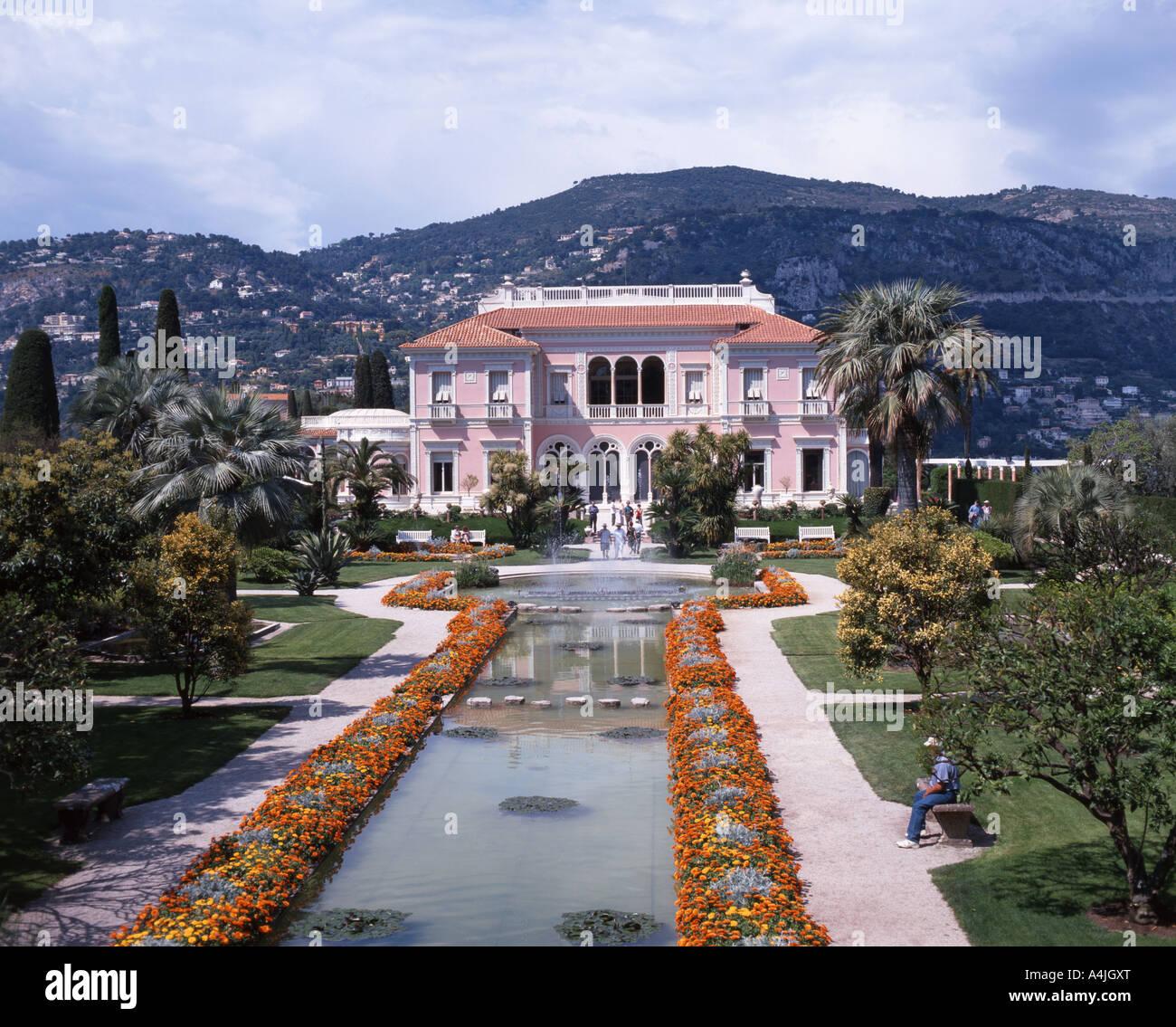 Villa Ephrussi De Rothschild, Saint-Jean-Cap-Ferrat, Alpes Maritimes, Provence-Alpes-Côte d'Azur, France - Stock Image