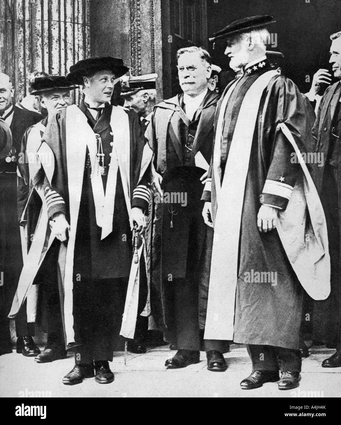 The Prince of Wales and Admiral William Sims Cambridge 1921  - Stock Image