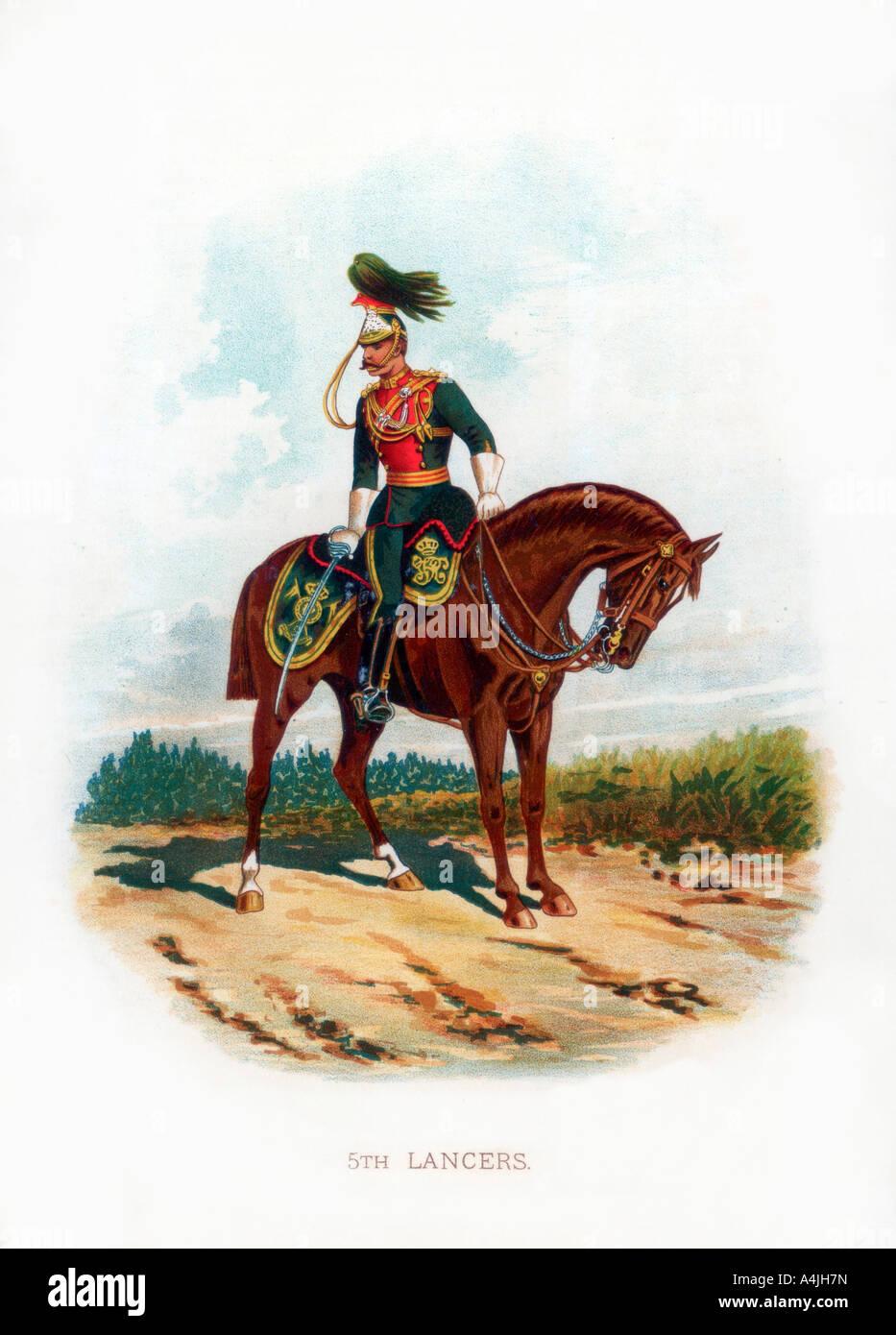 5th Lancers 1889  - Stock Image