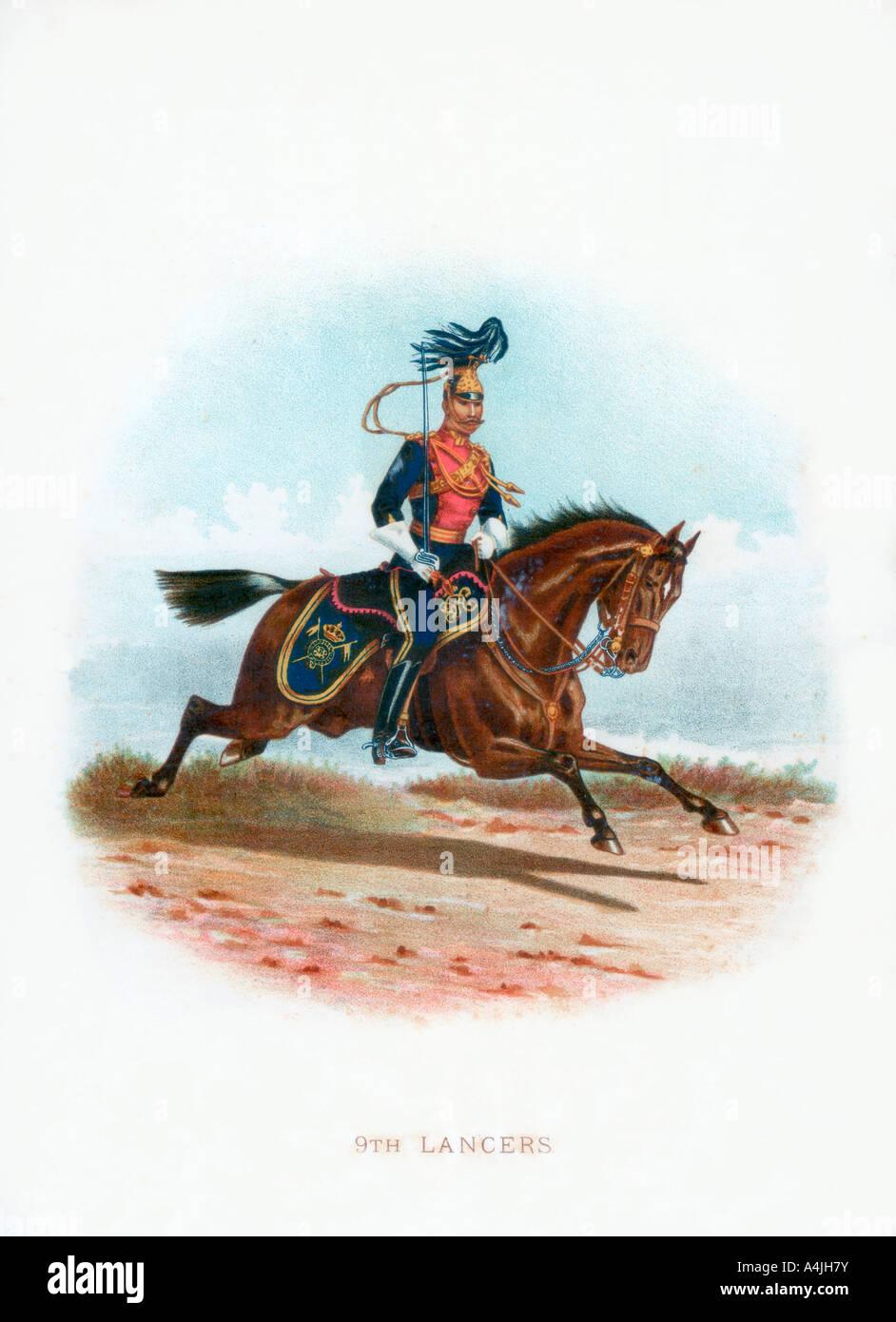 9th Lancers 1889  - Stock Image