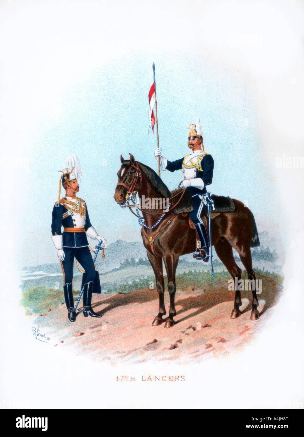 17th Lancers 1890  - Stock Image