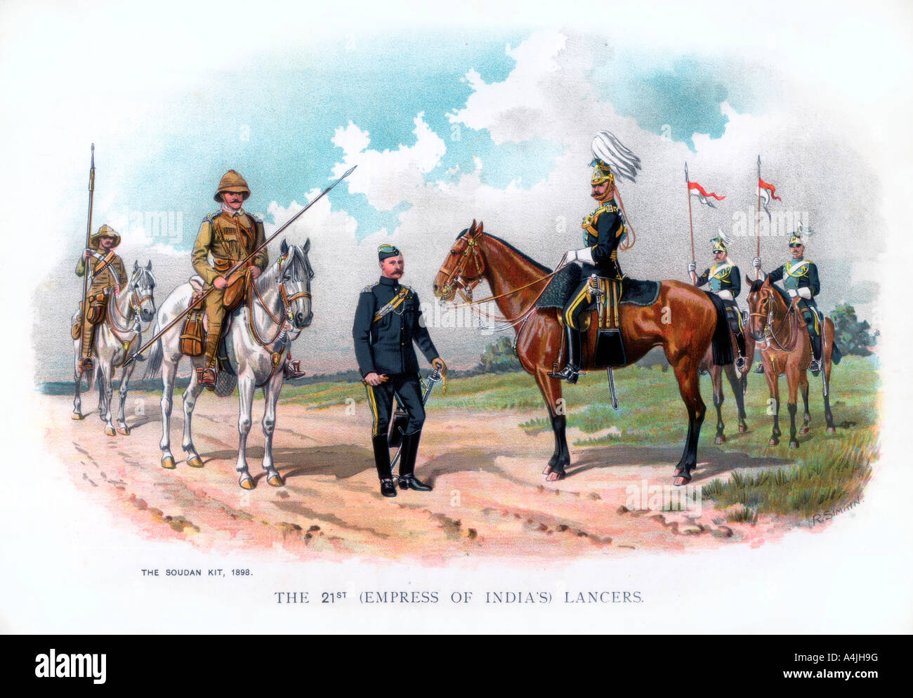 The 21st Empress of India s Lancers 1900  - Stock Image
