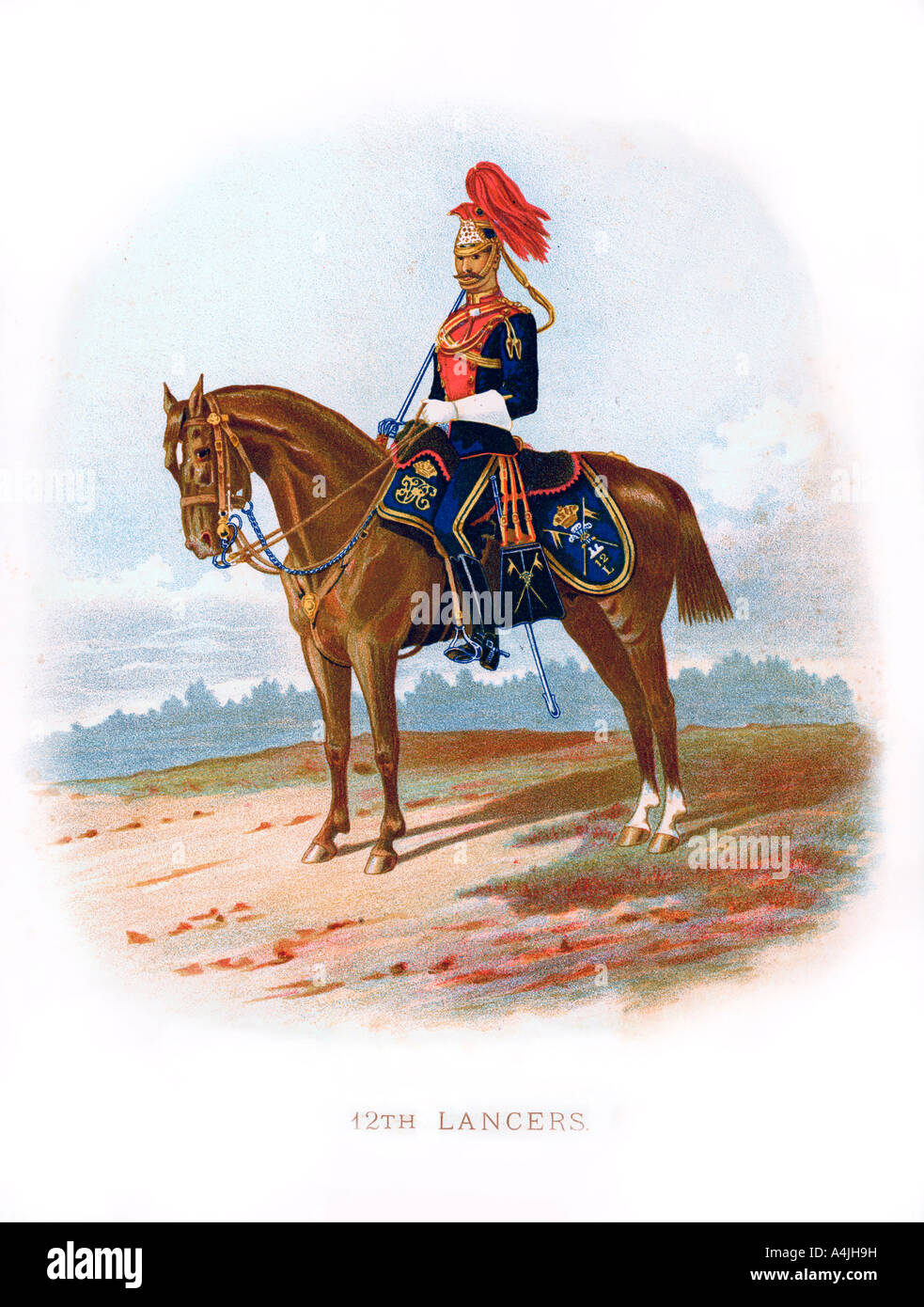12th Lancers 1889  - Stock Image