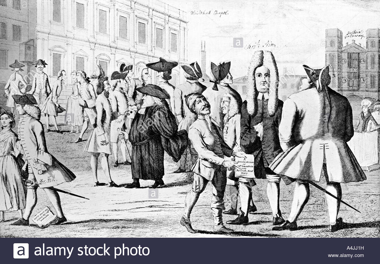 Lusus Naturae or Carracturas of the present age 1752  - Stock Image