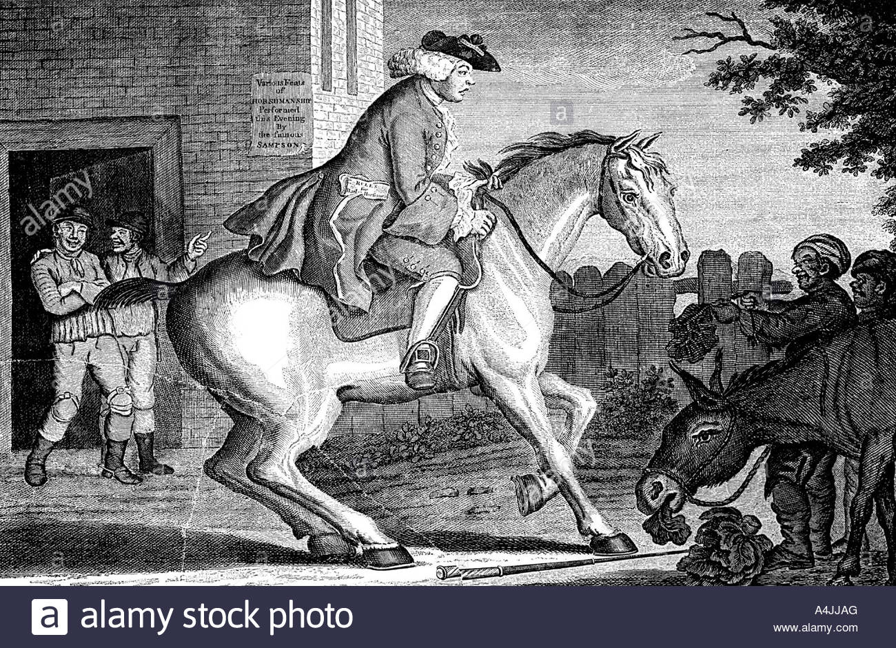 The Taylor riding to Brentford 1768  - Stock Image