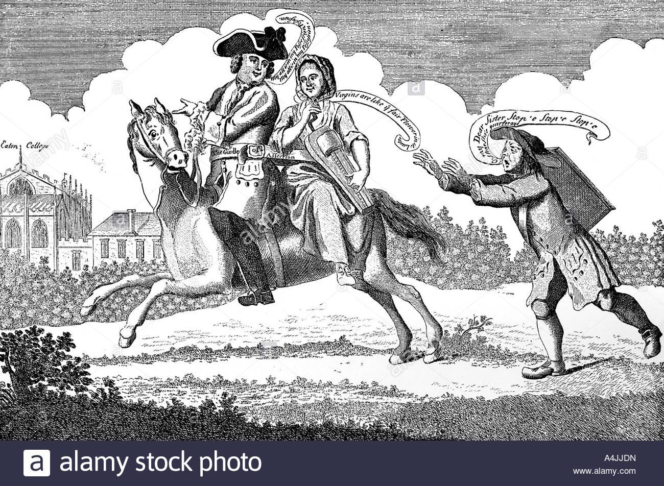 John of Gant mounted or Mars on his Journey 1747  - Stock Image