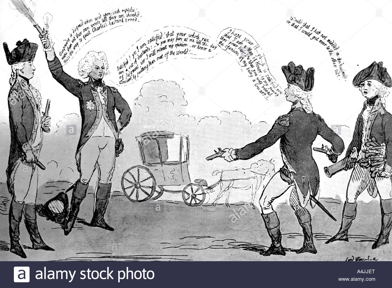 A Prince and a Poltroon 1789  - Stock Image