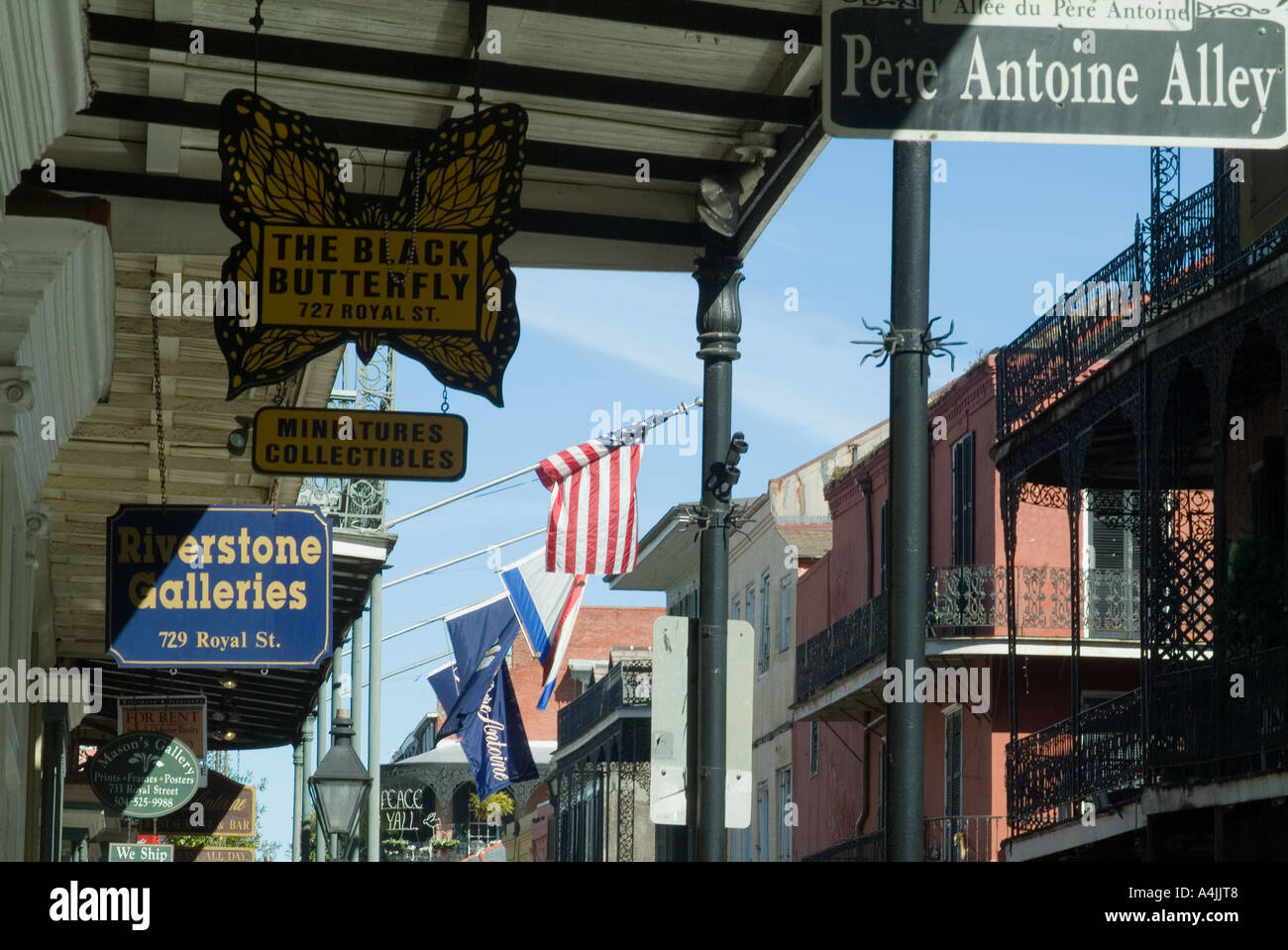 Pere Antoine Alley, French Quarter, New Orleans, Louisiana - Stock Image b68b0288692