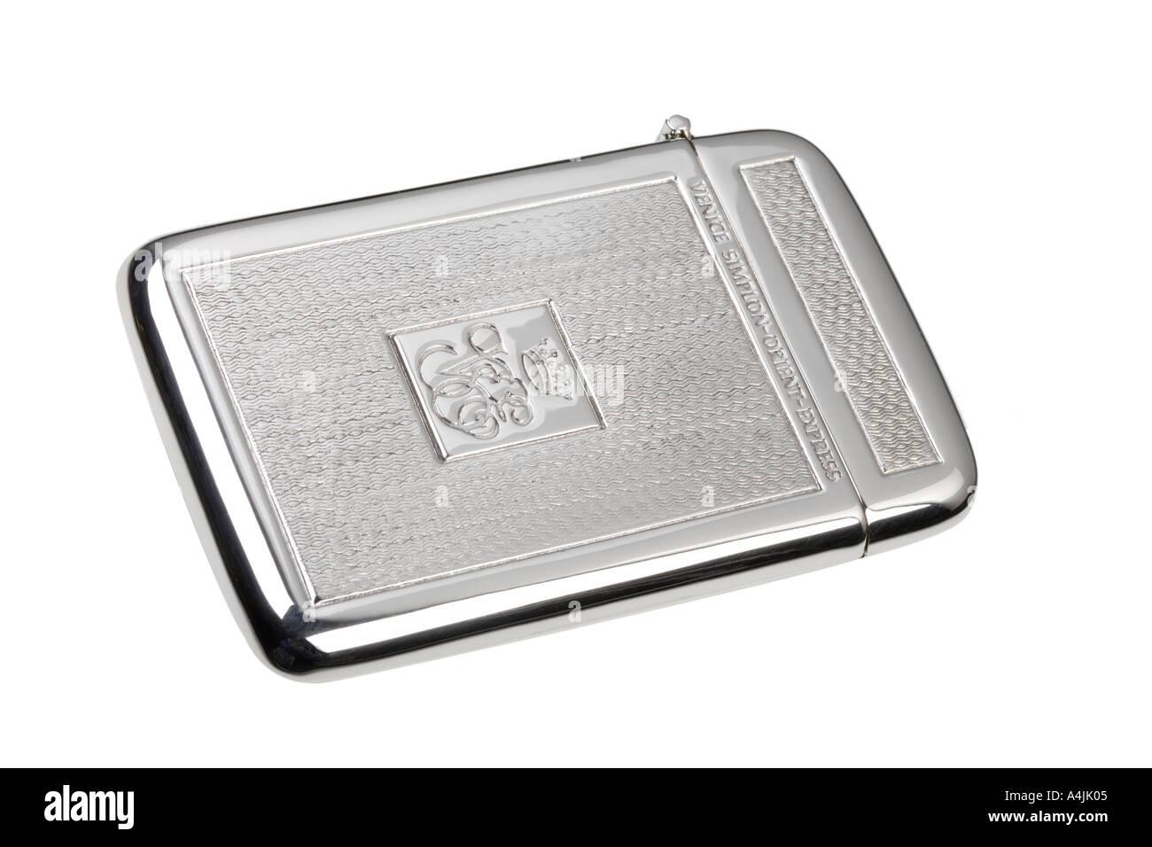 silver business card holder Venice Simplon Orient Express Stock ...