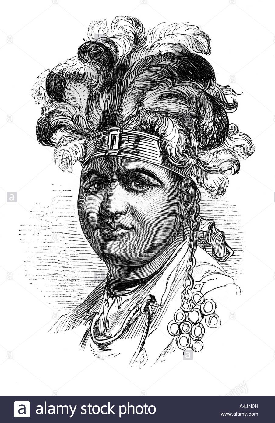 Thayendaneega a Mohawk chief 1848  - Stock Image