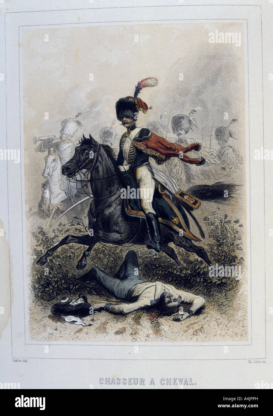 Chasseurs à Cheval light cavalry 1859  - Stock Image