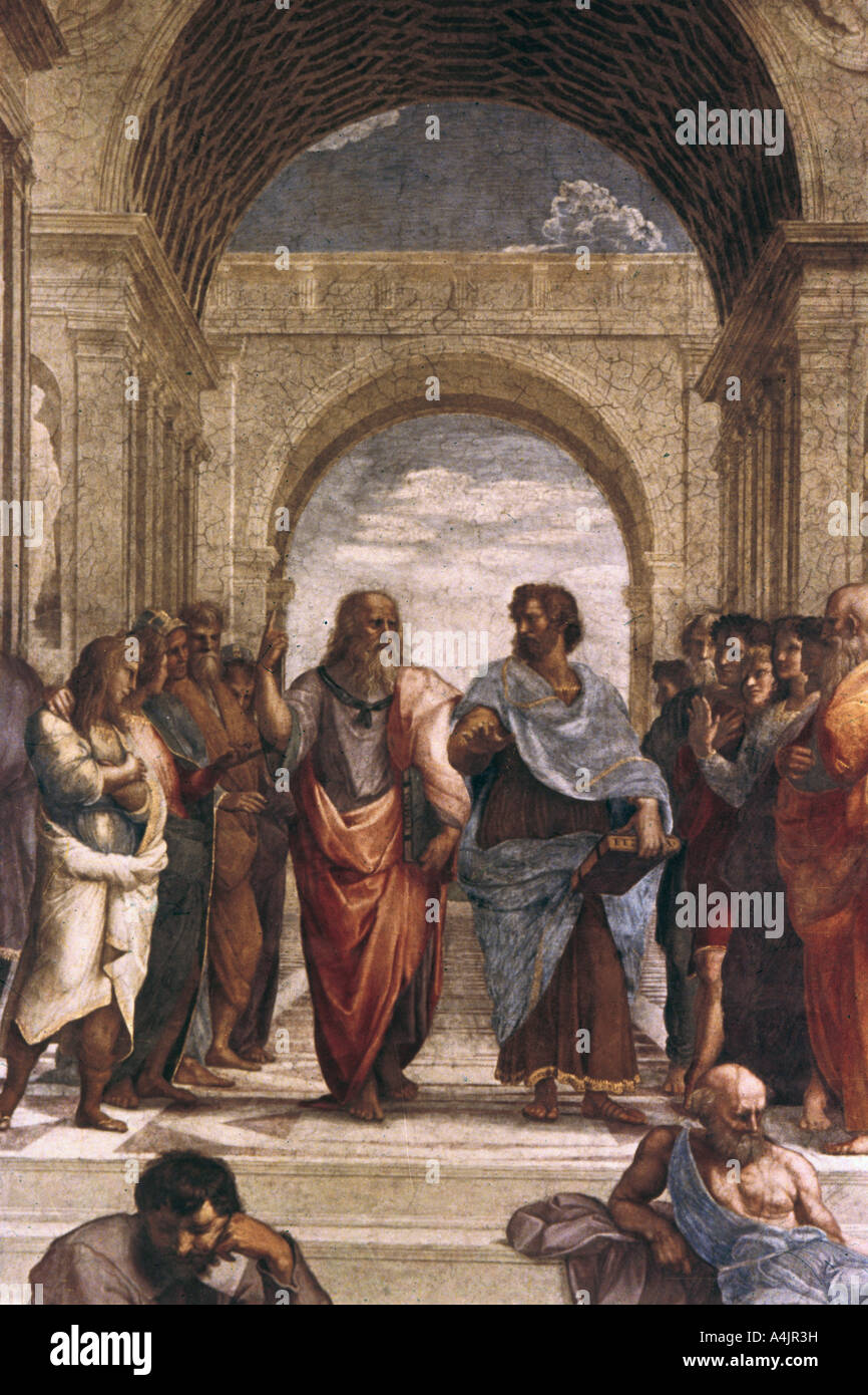 The School Of Athens Detail Of Plato Aristotle 1508