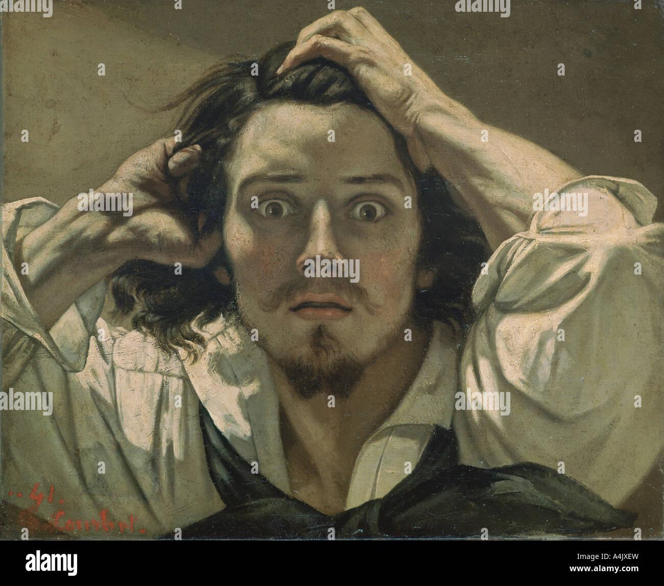 Desperate Self portrait 1841  - Stock Image