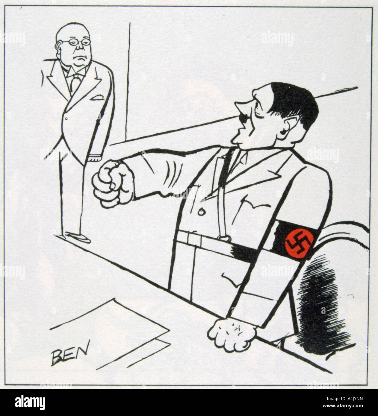 Caricatures Of Adolf Hitler Stock Photos & Caricatures Of