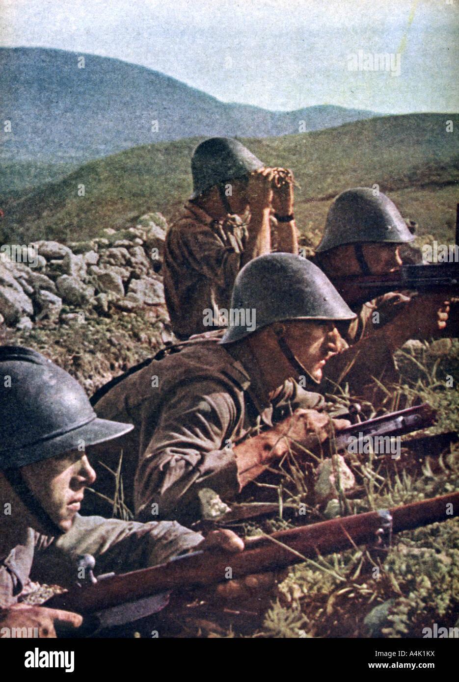 Romanian troops the siege of Sebastopol Russia 1941 1942  - Stock Image