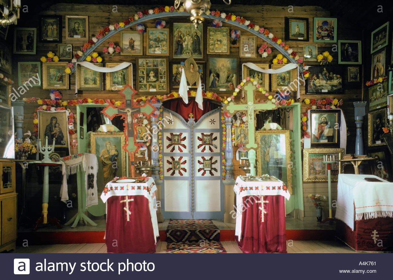 Shandrow Museum The first Greek Orthodox Church in Alberta Willington Alberta Canada - Stock Image