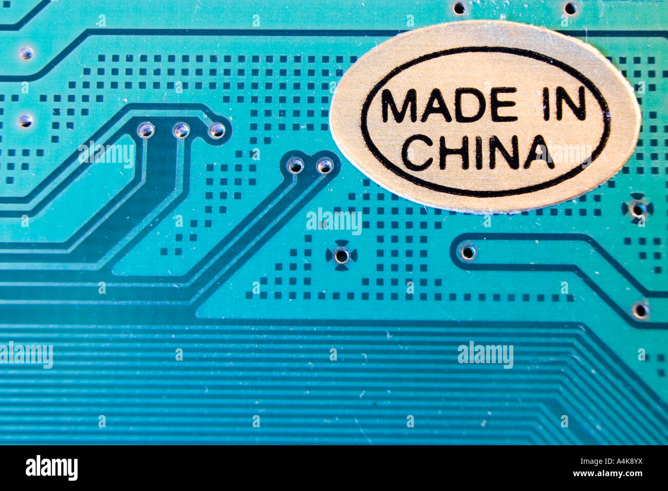 Made In China Sticker On A Printed Circuit Board Stock Photo Catalog