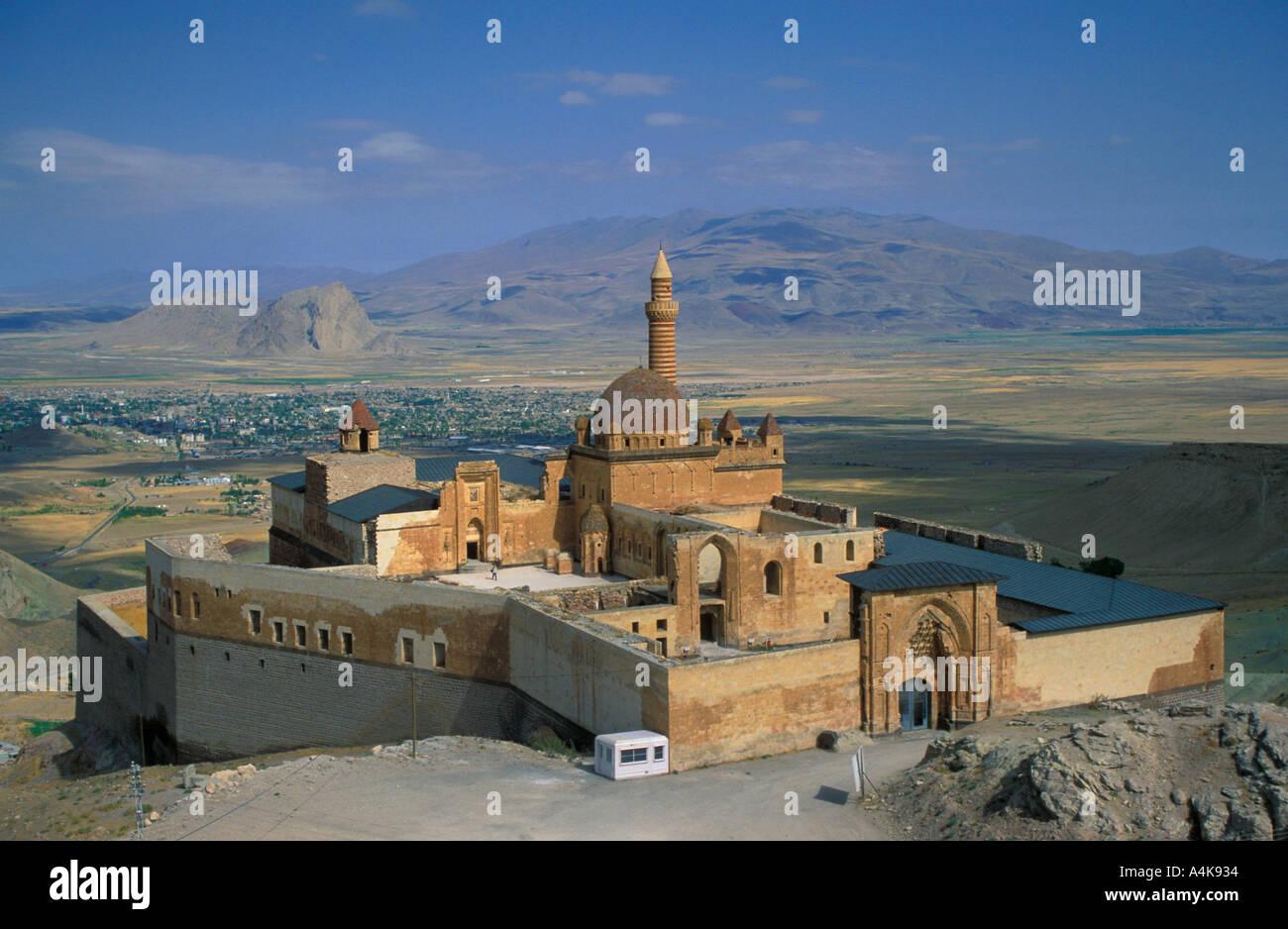 Ishak Pasha Palace in Dogu Bayezit Agri Turkey Stock Photo