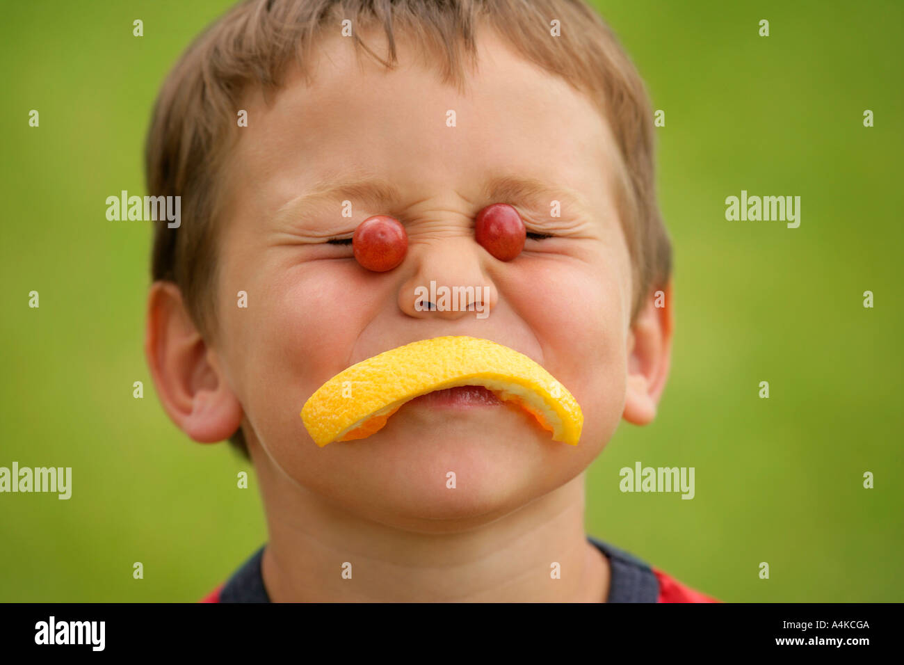 A fruity face - Stock Image