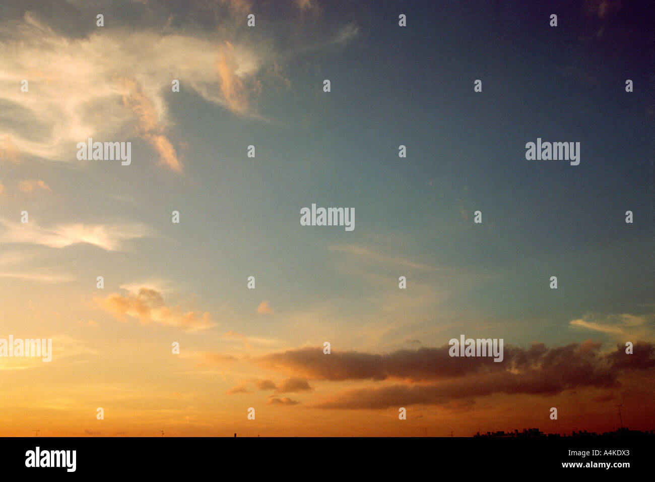 Sky at sunset - Stock Image