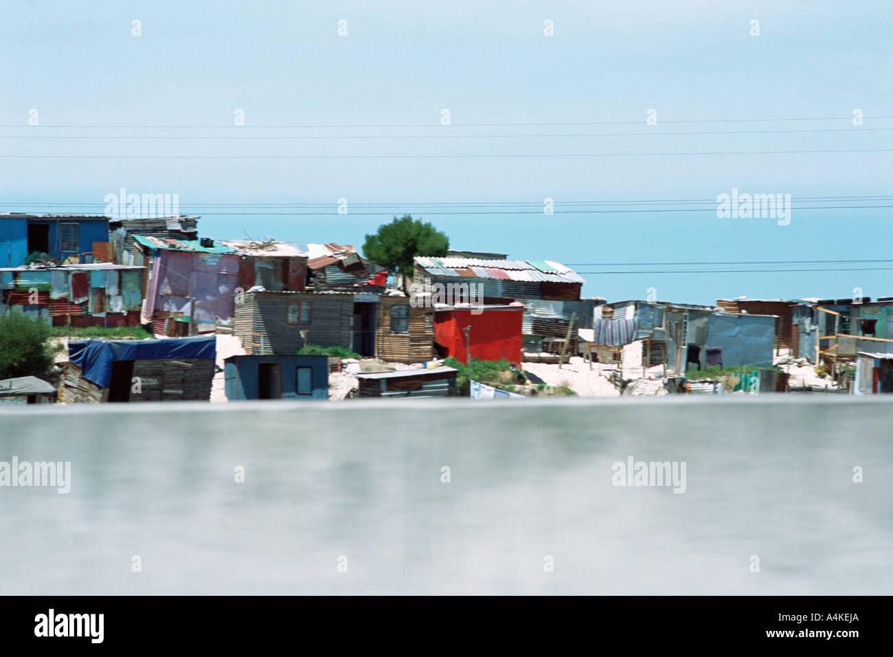 South Africa, Western Cape, shanty town - Stock Image