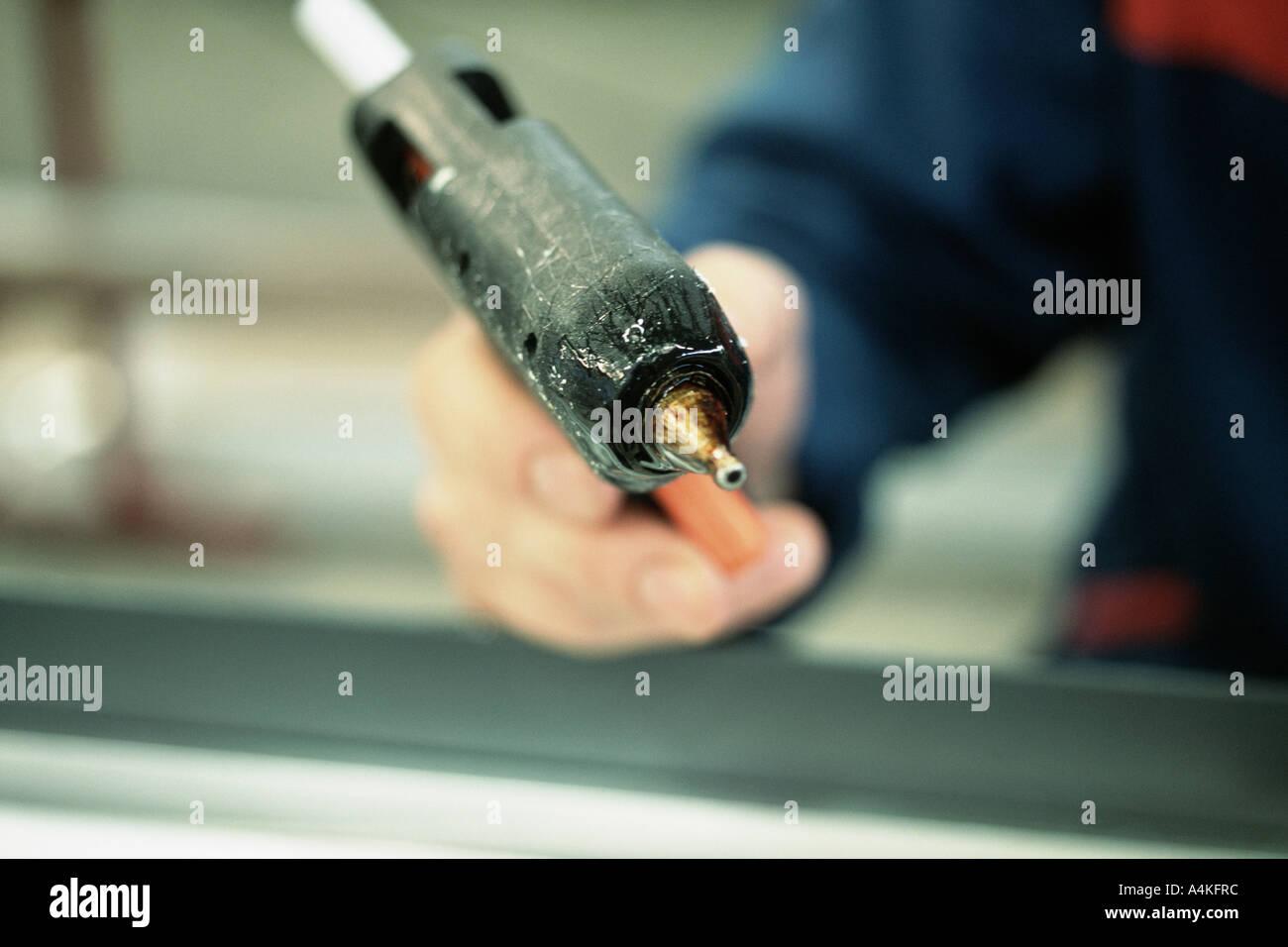 Glue gun - Stock Image