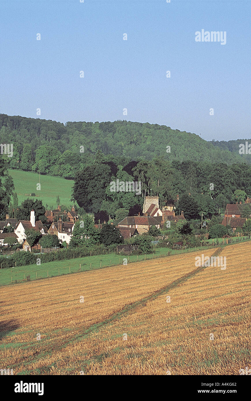 Turville village in the Chilterns - Stock Image