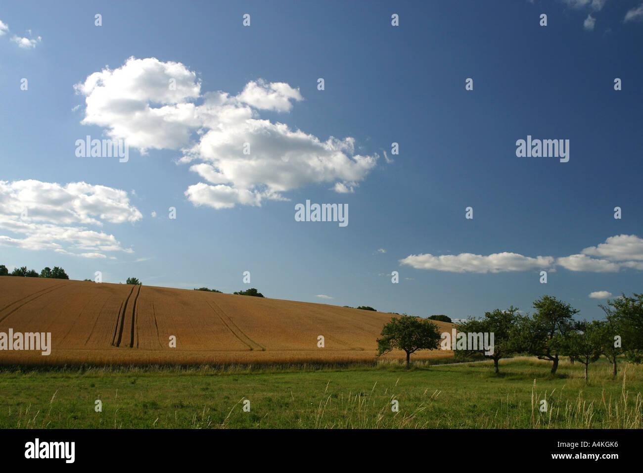 France, Jura, landscape - Stock Image