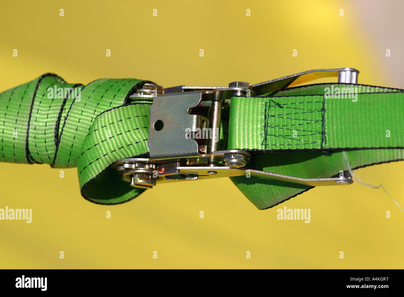 Buckled strap - Stock Image