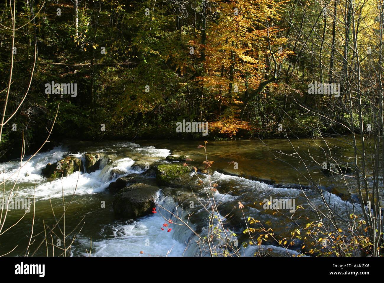France, Jura, stream - Stock Image