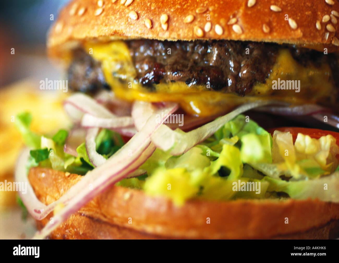Cheeseburger - Stock Image
