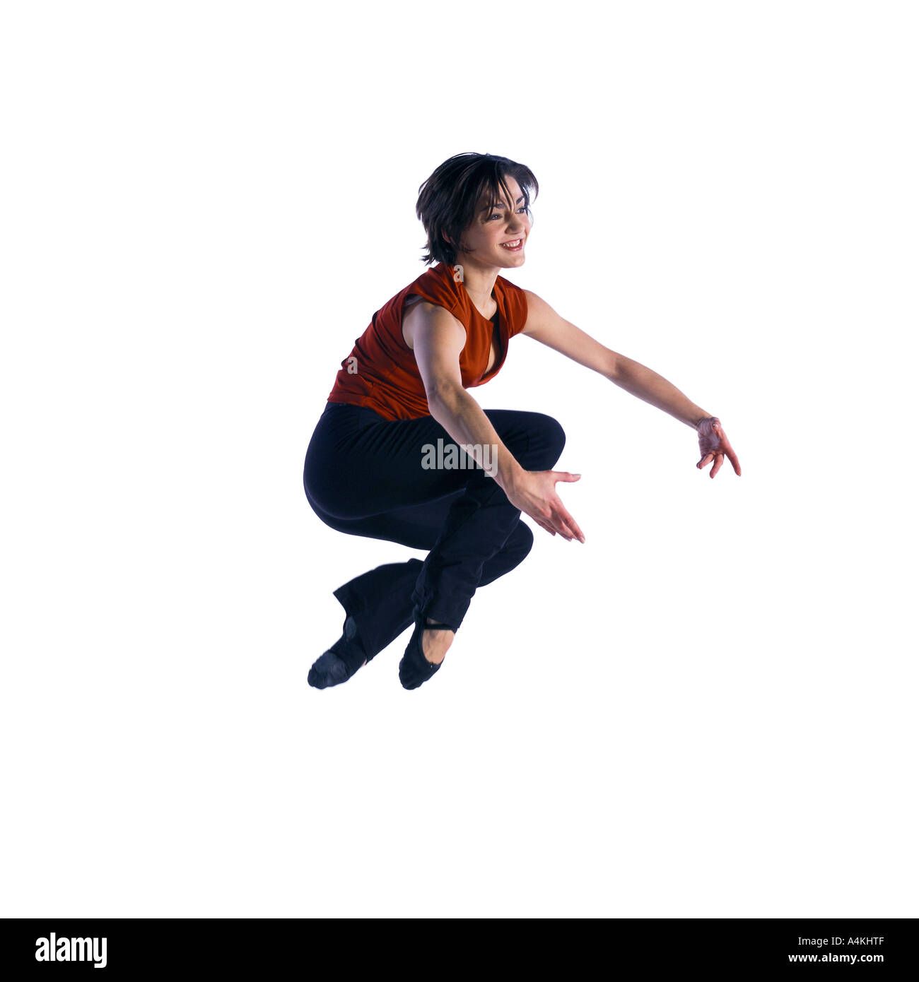 Woman jumping - Stock Image