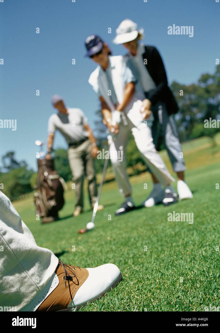 Golfers - Stock Image