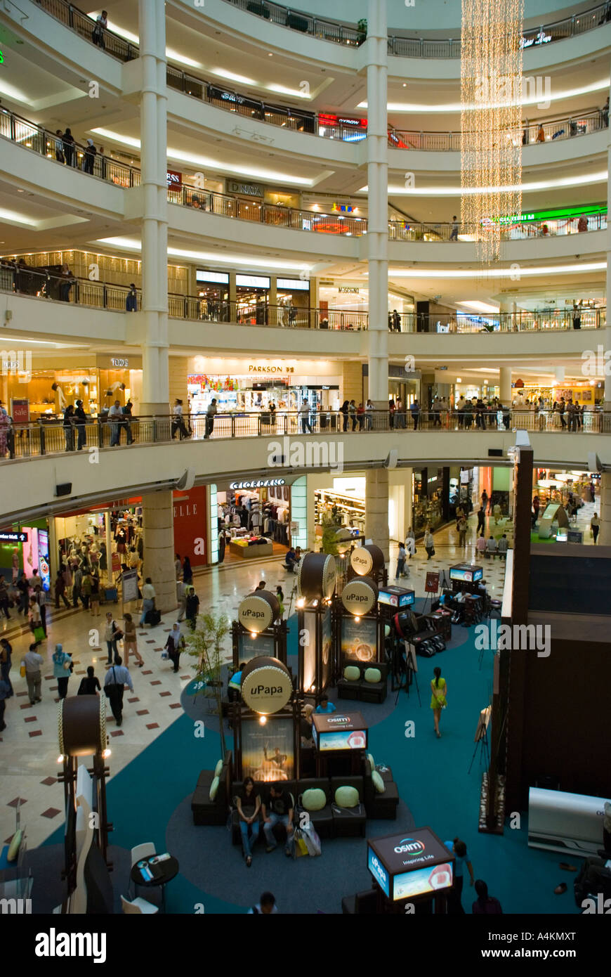 Modern shopping mall inside the Petronas twin towers complex