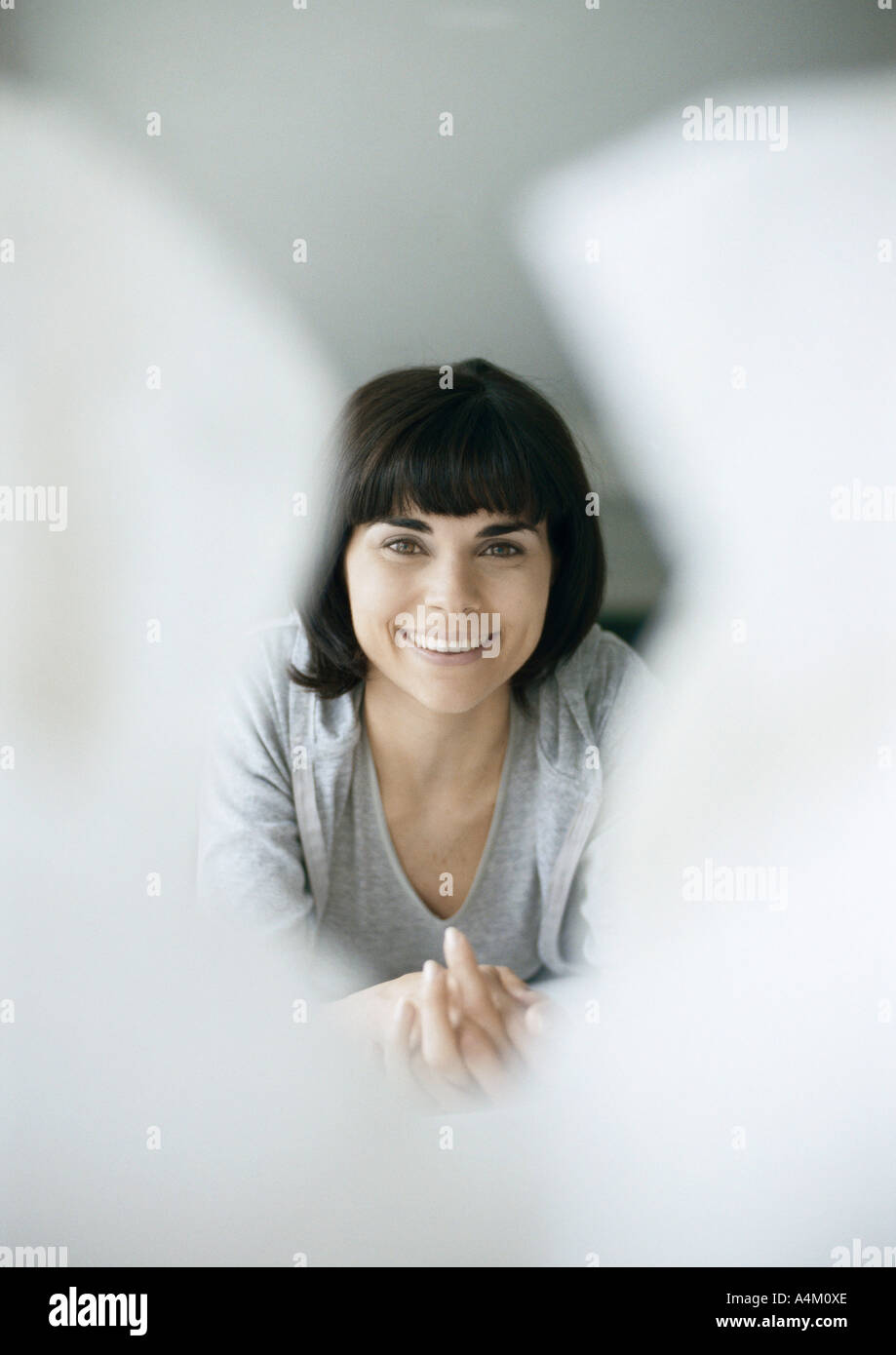Woman, portrait - Stock Image