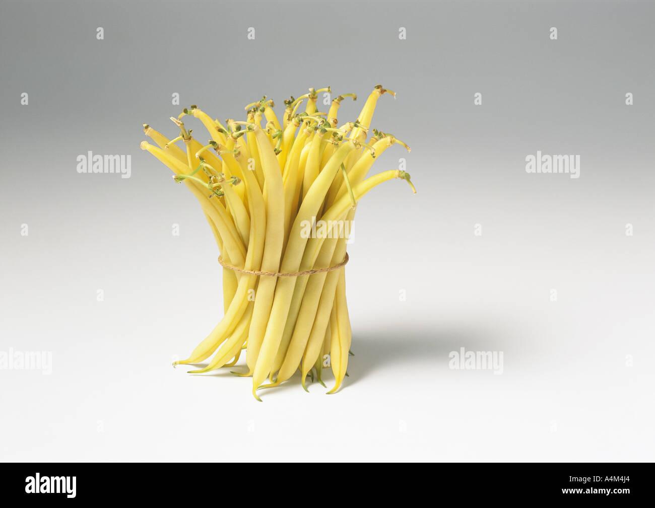Bundle of wax beans - Stock Image