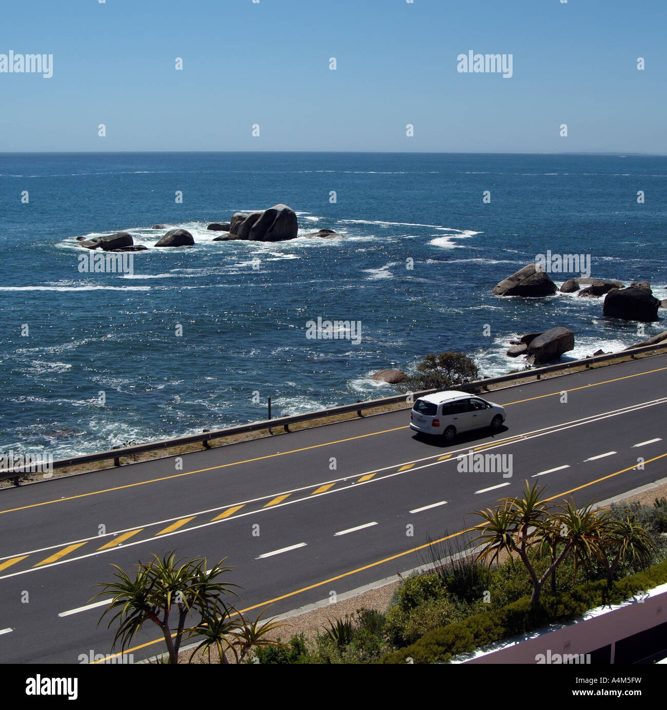 Driving on the Atlantic seaboard. Camps Bay South Africa RSA - Stock Image