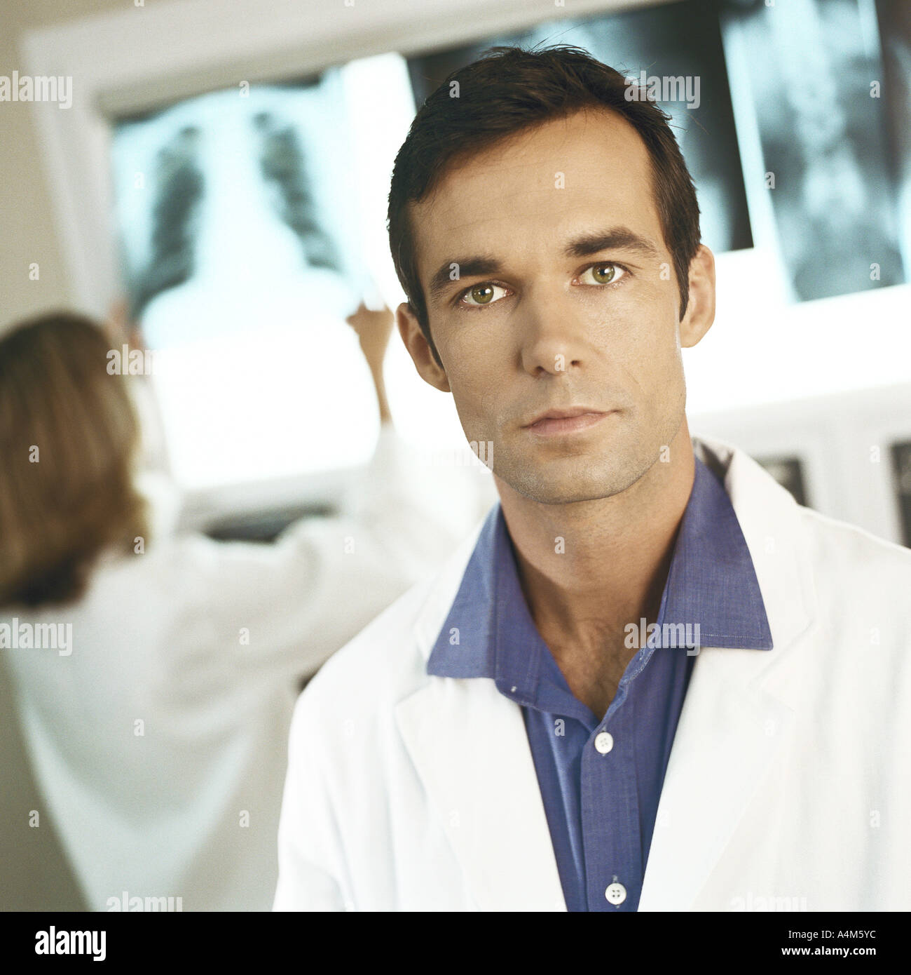 Doctors in x-ray lab - Stock Image