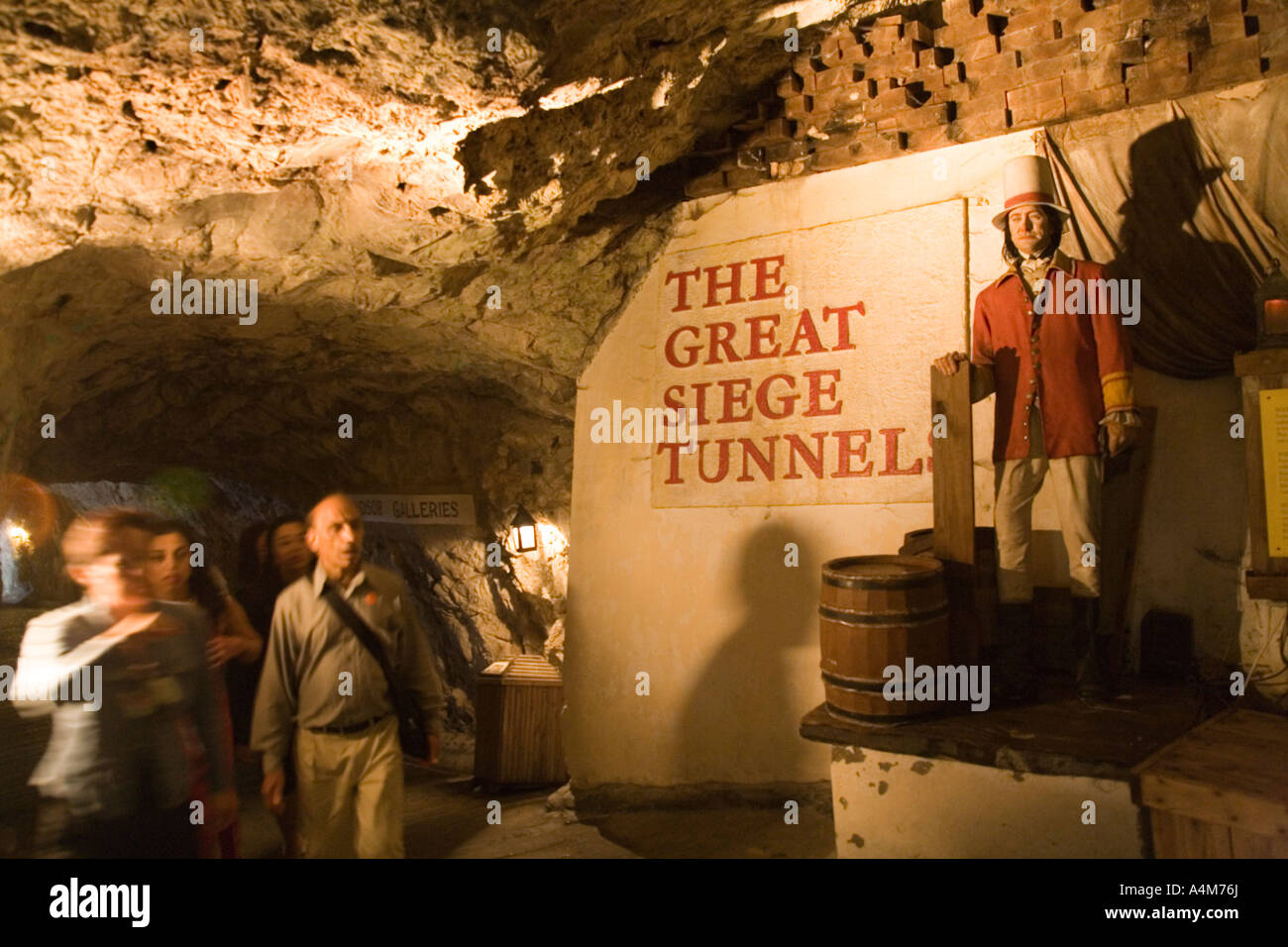 Gibraltar The Great Siege Tunnel Waxwork display - Stock Image