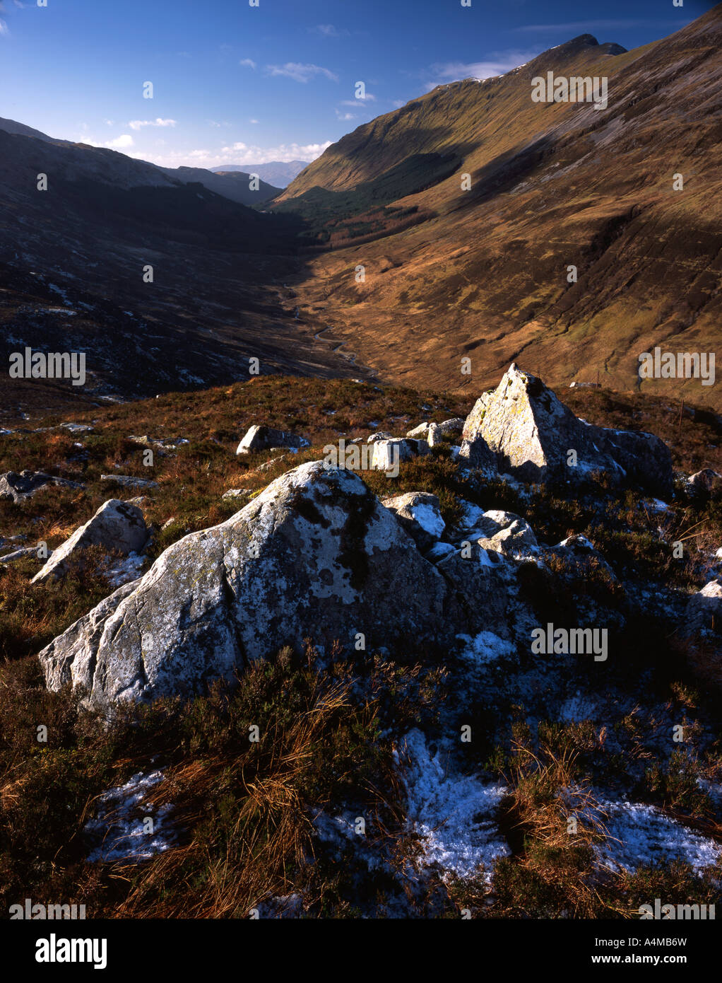 Glen Duror viewed from the summit ridge of Sgorr a Choise - Stock Image