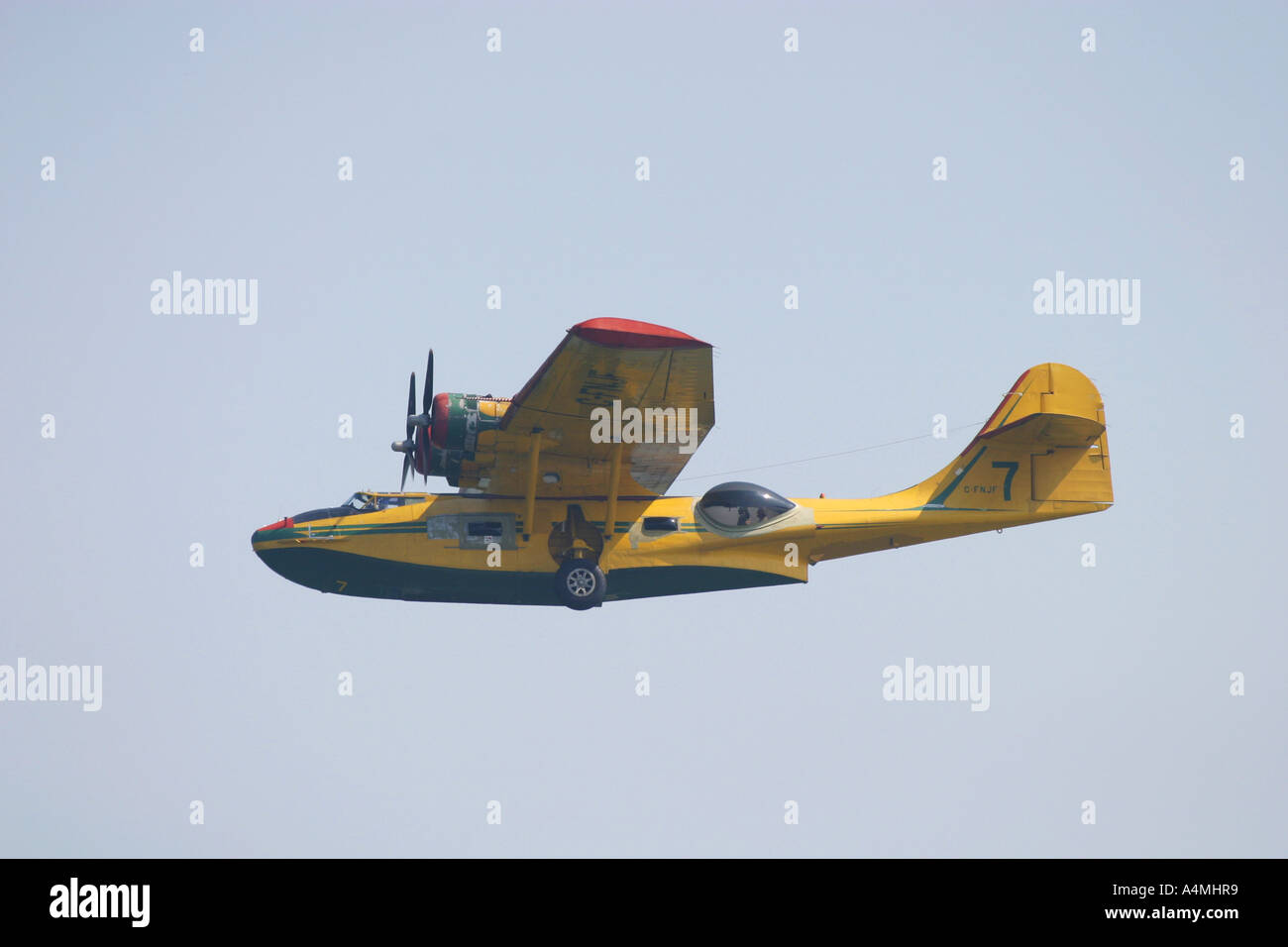Consolidated Catalina fire bomber - Stock Image