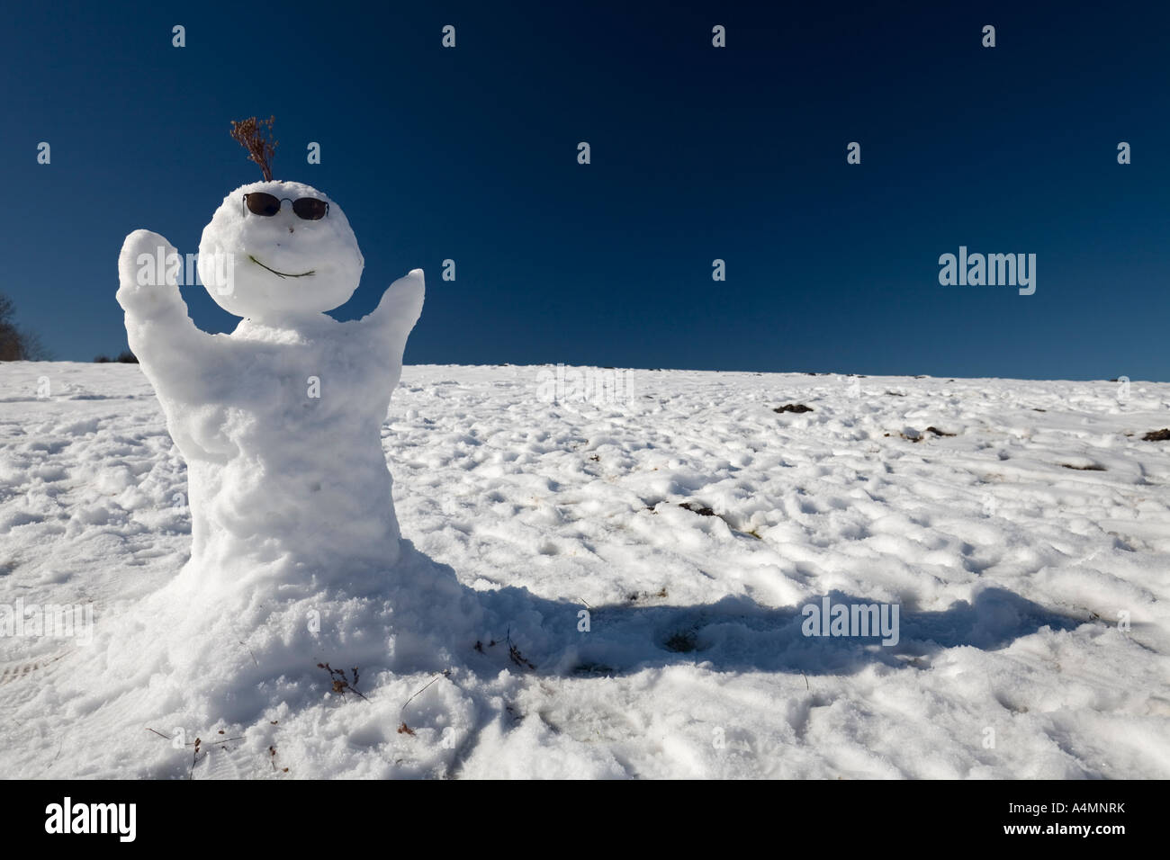 A snowman with sunglasses in the Sancy Massif (France). Bonhomme de neige  avec 307937250f4e