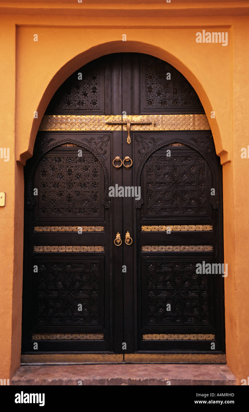 Morocco Marrakech Entrance Riad Stock Photos Amp Morocco
