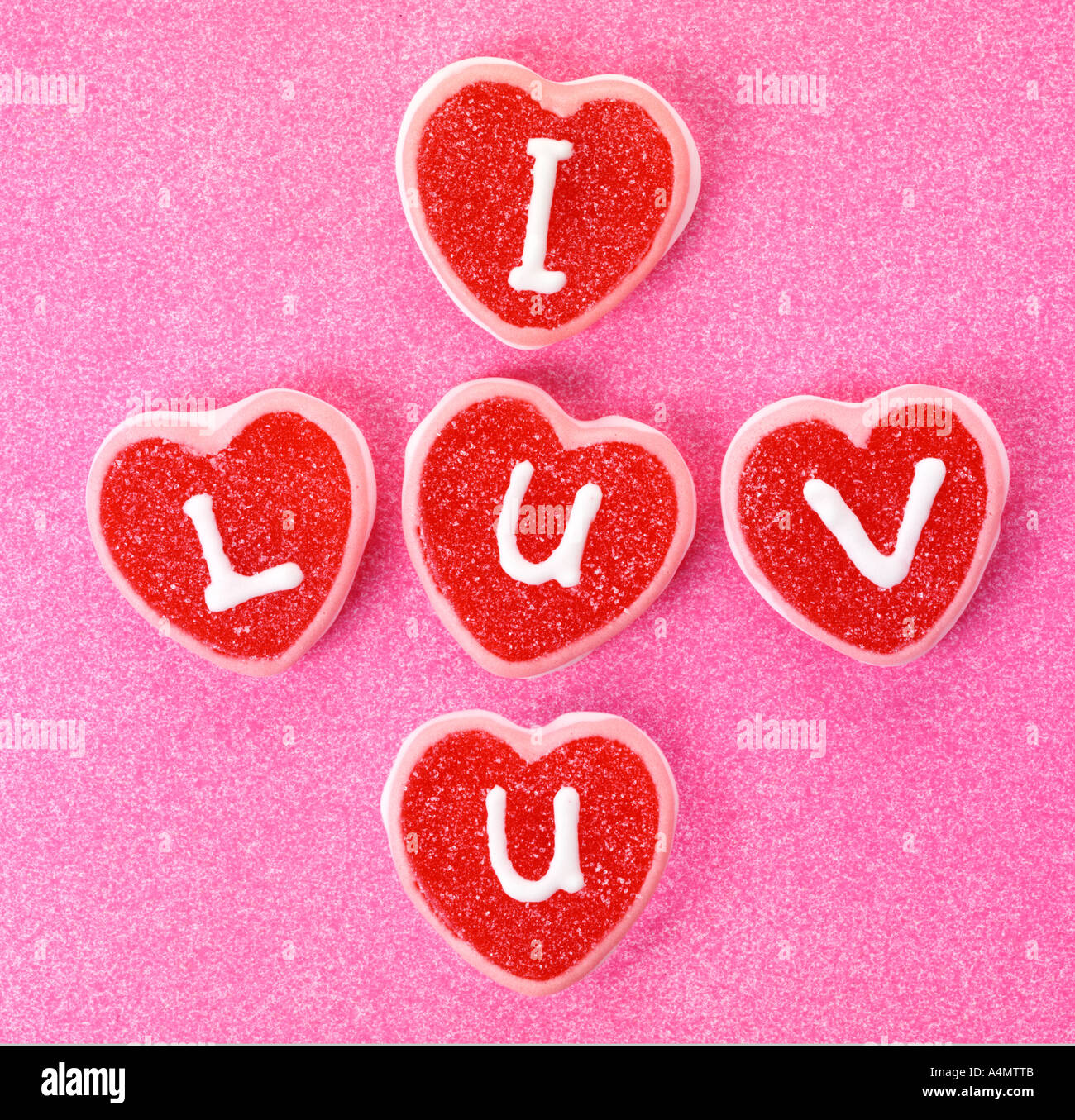LOVE SWEETS / CANDY - Stock Image