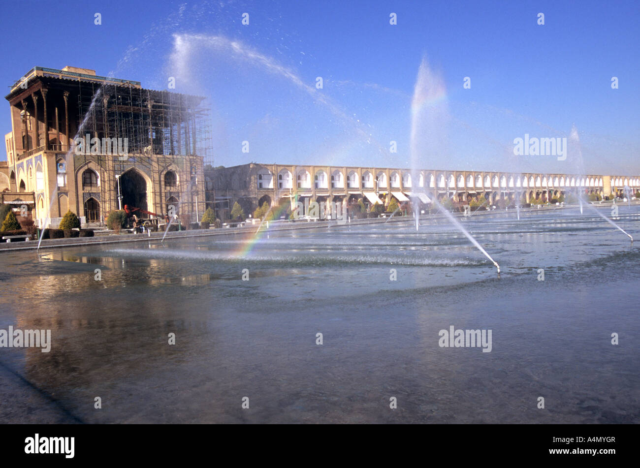 Ali Qapu palace in the Naghsh-i Jahan Square in Isfahan, the 2nd largest square in the world, Iran Stock Photo