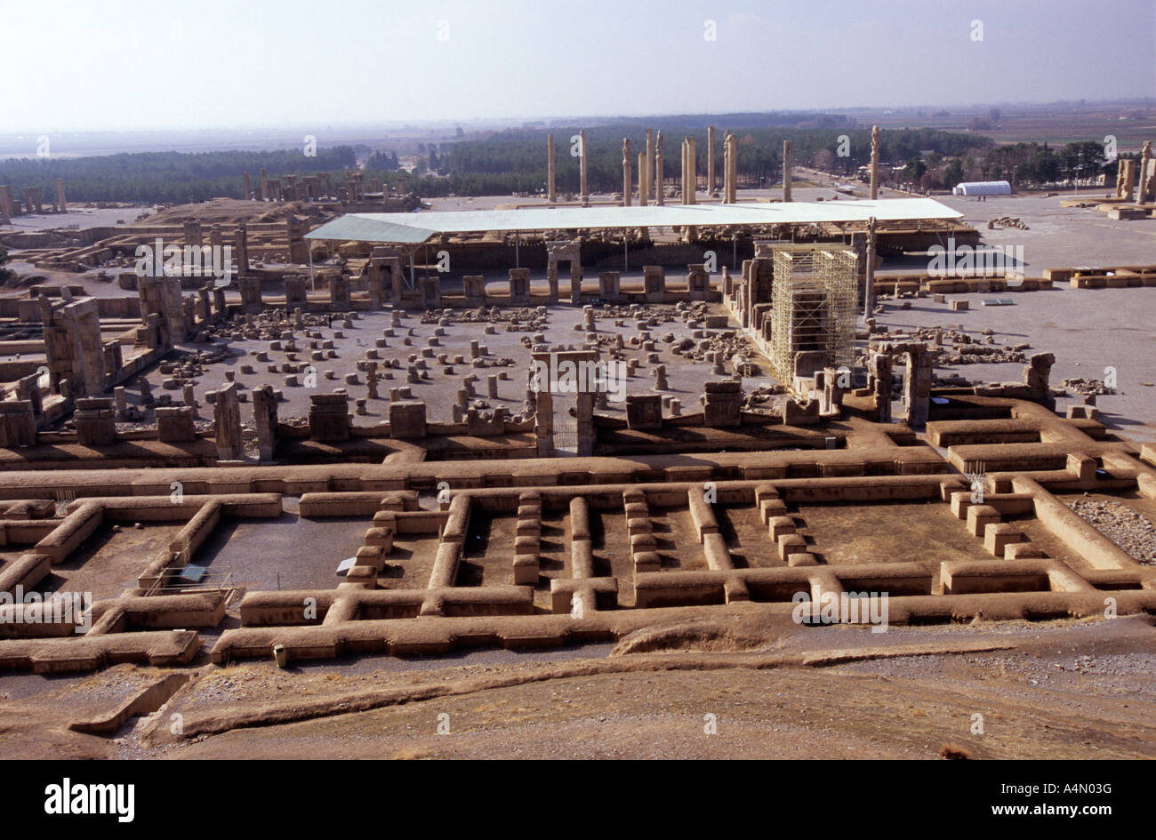 Remains Of The Archaelogical Site Of Persepolis Iran Stock Photo Alamy