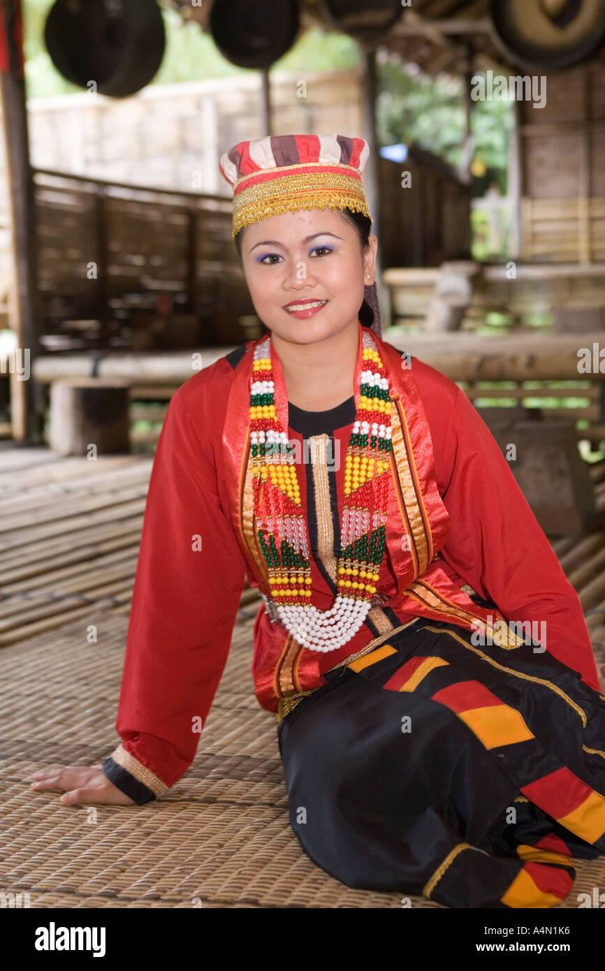 Malaysia Borneo Sarawak Cultural Village Young Bidayuh Woman In Stock Photo Alamy
