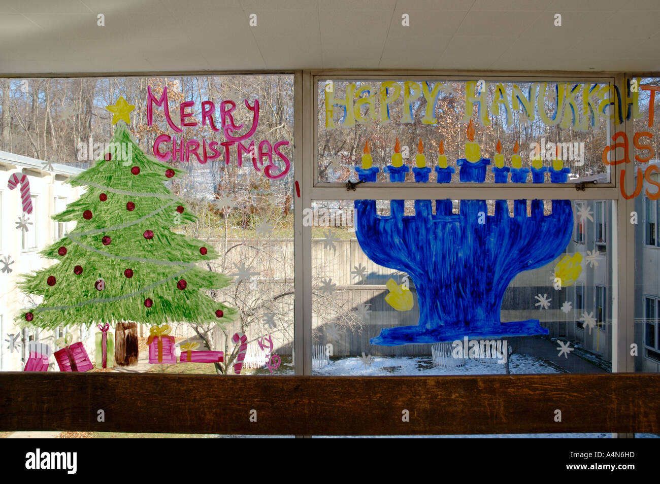 Holiday Greetings Paintings For Christmas And Hanukkah On Public