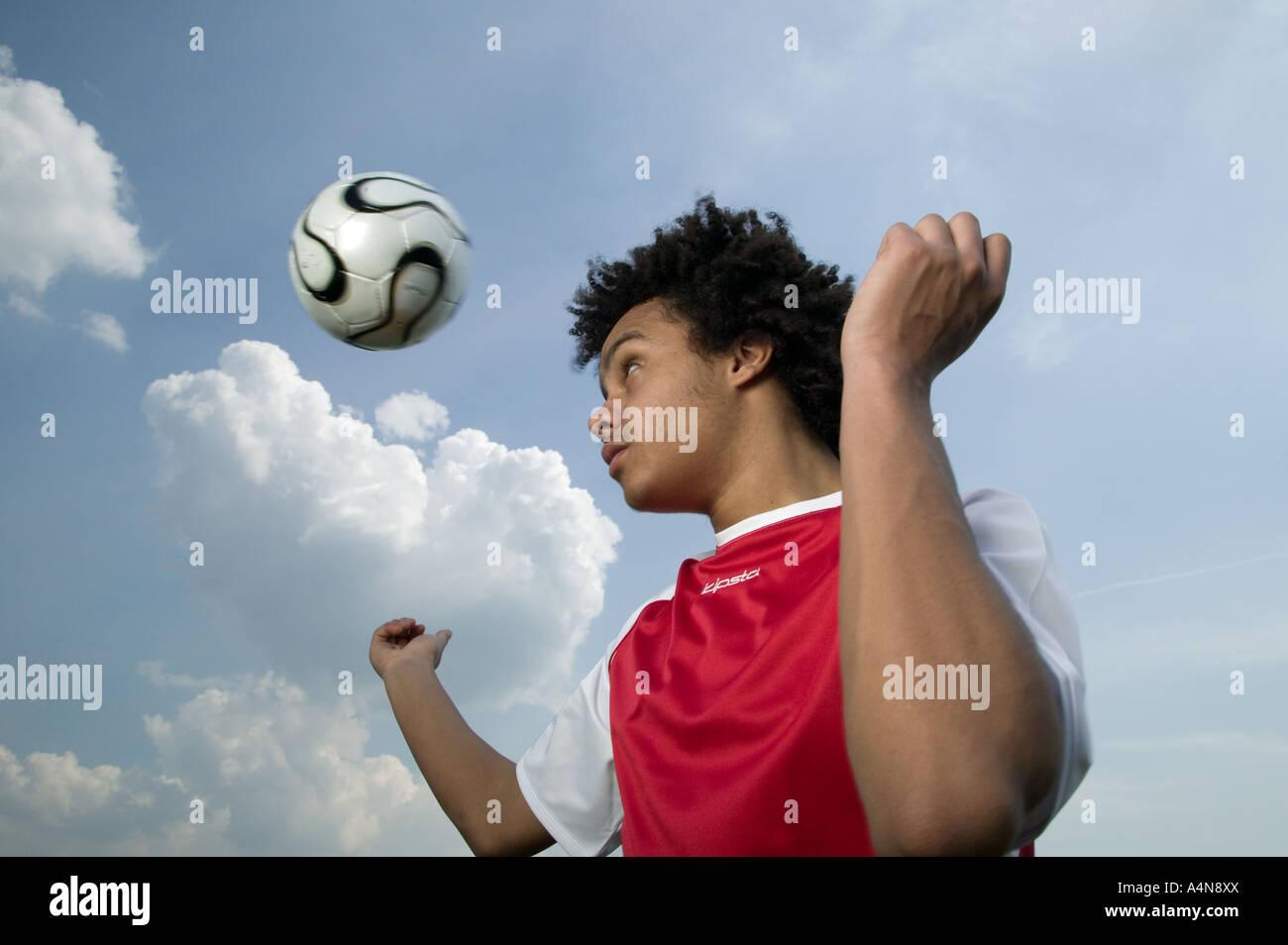 Soccer header - Stock Image